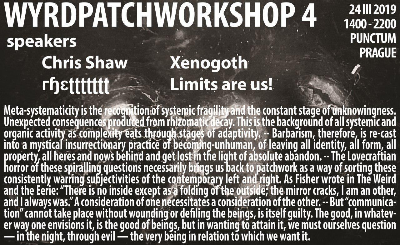 wyrd patchworkshop 4 flyer