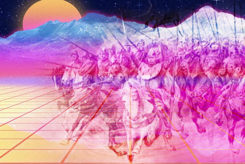 old man cerny jirasek vaporwave background